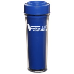 View a larger, more detailed picture of the Silver Shield Antimicrobial Tumbler - 14 oz - Closeout