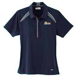 View a larger, more detailed picture of the Quinn Colorblock Textured Polo - Ladies - TE Transfer