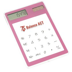 View a larger, more detailed picture of the Sleek-n-Slim Clear Calculator - Closeout