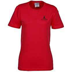 View a larger, more detailed picture of the Soft Spun Cotton T-Shirt - Ladies - Colors