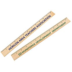 View a larger, more detailed picture of the Natural Finish Ruler - 12 - 24 hr