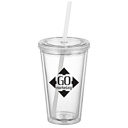 View a larger, more detailed picture of the Victory Tumbler with Mood Straw - 16 oz