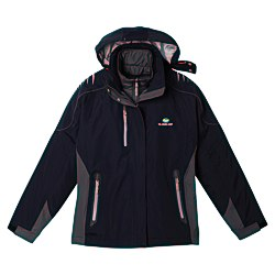 View a larger, more detailed picture of the Teton 3-in-1 Waterproof Jacket - Ladies - 24 hr