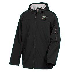 View a larger, more detailed picture of the Devon & Jones Hooded Soft Shell Jacket - Men s