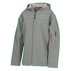 View a larger, more detailed picture of the Devon & Jones Hooded Soft Shell Jacket - Ladies