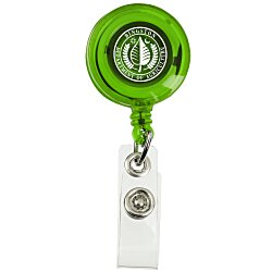 View a larger, more detailed picture of the Economy Retractable Badge Holder - Translucent - 24 hr