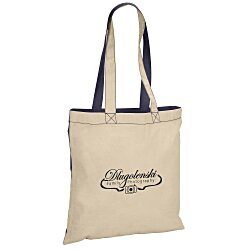 View a larger, more detailed picture of the Lightweight Economy Two-Tone Cotton Tote - 24 hr