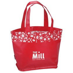 View a larger, more detailed picture of the Annabelle Laminated Tote - Closeout