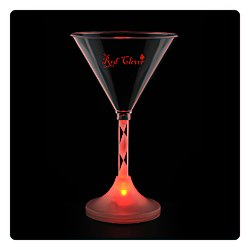 View a larger, more detailed picture of the Martini Glass with Light Up Spiral Stem - 6 oz
