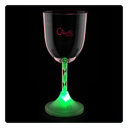 View a larger, more detailed picture of the Wine Glass with Light Up Spiral Stem - 10 oz