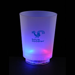 View a larger, more detailed picture of the Light Up Frosted Glass - 11 oz