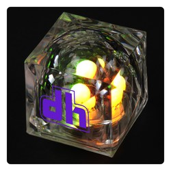 View a larger, more detailed picture of the Crystal Light Up Ice Cube - Multicolor
