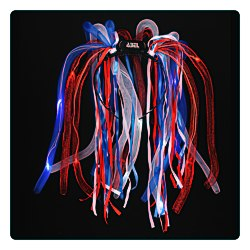 View a larger, more detailed picture of the LED Noodle Headband - Red White & Blue