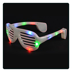 View a larger, more detailed picture of the Light Up Slotted Glasses - Multicolor