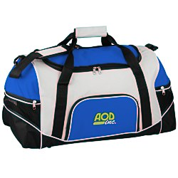 View a larger, more detailed picture of the Tri-Pocket Sport Duffel - Embroidered