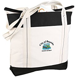 View a larger, more detailed picture of the Hamptons Weekend Tote Bag - Embroidered