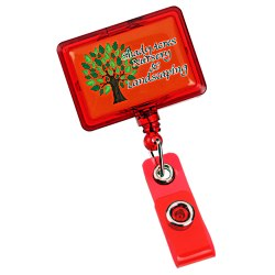 View a larger, more detailed picture of the Jumbo Retractable Badge Holder - 40 - Rectangle - Trans