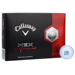 View a larger, more detailed picture of the Callaway HEX Diablo Golf Ball - Dozen - Standard