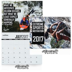 View a larger, more detailed picture of the Extreme Sports Motivation Calendar