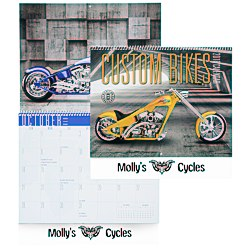 View a larger, more detailed picture of the Custom Bikes Calendar