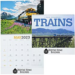 View a larger, more detailed picture of the Trains Calendar
