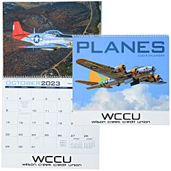 View a larger, more detailed picture of the Planes Calendar