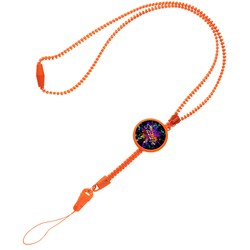 View a larger, more detailed picture of the Zipper Lanyard - Closeout