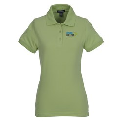 View a larger, more detailed picture of the Ayer Cotton Pique Polo - Ladies - 24 hr