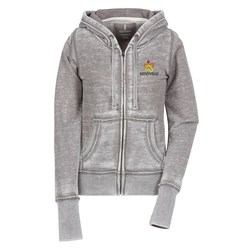 View a larger, more detailed picture of the Ridgemont Burnout Full Zip Hoodie - Ladies