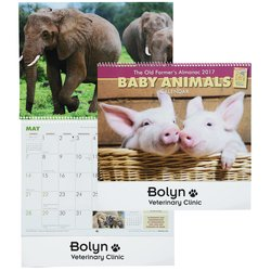 View a larger, more detailed picture of the The Old Farmer s Almanac - Baby Animals - Spiral