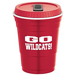 View a larger, more detailed picture of the Game Day Cup w Lid - Opaque - 16 oz