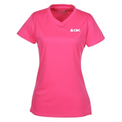 View a larger, more detailed picture of the New Balance NDurance Athletic V-Neck Tee - Ladies
