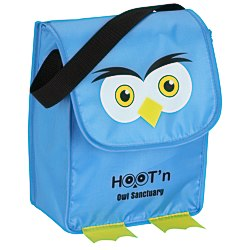 View a larger, more detailed picture of the Paws and Claws Lunch Bag Owl - 24 hr