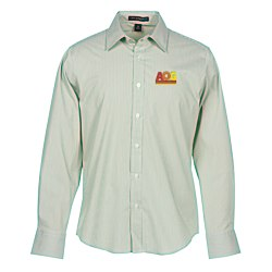 View a larger, more detailed picture of the Fine Stripe Stretch Poplin Shirt - Men s