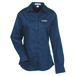 View a larger, more detailed picture of the Wrinkle Resistant Stretch Poplin Shirt - Ladies