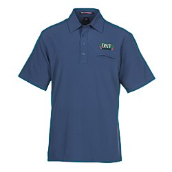 View a larger, more detailed picture of the Easy Care Ultra Stretch Pocket Polo - Men s