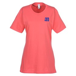 View a larger, more detailed picture of the Essential Ring Spun Cotton T-Shirt - Ladies - Colors