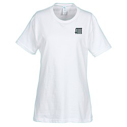View a larger, more detailed picture of the Essential Ring Spun Cotton T-Shirt - Ladies - White