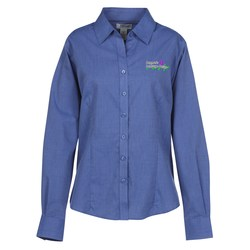 View a larger, more detailed picture of the Taylor Broadcloth Crossweave Shirt - Ladies