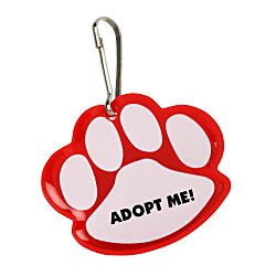 View a larger, more detailed picture of the Reflective Pet Collar Tag - Paw Print