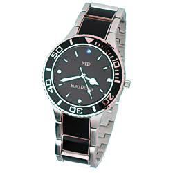 View a larger, more detailed picture of the Barcelona Steel Watch - Men s