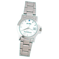 View a larger, more detailed picture of the Hamburg Brushed Steel Watch - Ladies