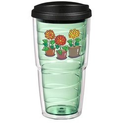 View a larger, more detailed picture of the Full Color Swirl Insulated Travel Tumbler - 24 oz
