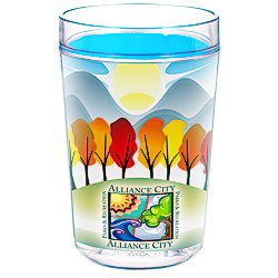 View a larger, more detailed picture of the Full Color Smooth Move Insulated Tumbler - 16 oz