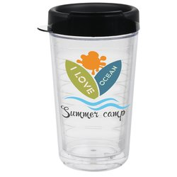 View a larger, more detailed picture of the Full Color Ring Around Insulated Travel Tumbler - 24 oz