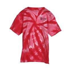 View a larger, more detailed picture of the Tie-Dye Tonal Pinwheel T-Shirt - Youth