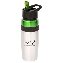View a larger, more detailed picture of the Titan Stainless Bottle with Loop - 25 oz - Closeout
