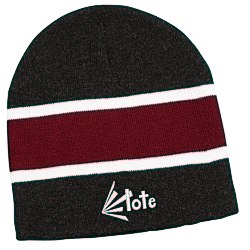 View a larger, more detailed picture of the Wide Stripe Beanie