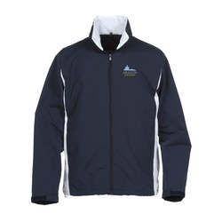 View a larger, more detailed picture of the Lightweight Side Blocked Jacket - Closeout