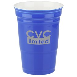 View a larger, more detailed picture of the Let s Party Ceramic Cup - 12 oz - Closeout